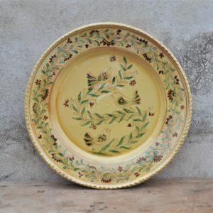 Grand plat décoré